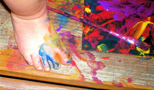 Painted_foot